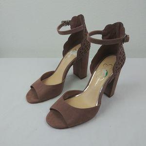 Jessica Simpson LIONA Mauve Block heel Sandals